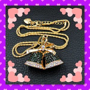 😺💜 BNWT BETSEY JOHNSON 💚🐩BELL NECKLACE💛🐱